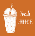 Fresh juice poster vector image