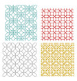 geometric seamless weave line pattern vector image vector image