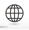 globe flat icon sign planet vector image vector image