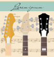 guitar and notes vector image vector image