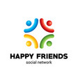 happy friends poster vector image vector image