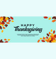 happy thanksgiving text background simple minimal vector image vector image