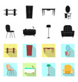 isolated object of furniture and apartment logo vector image vector image
