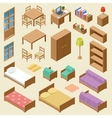 Isometric furniture set vector image vector image