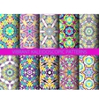 Kaleidoscopic patterns collection vector image