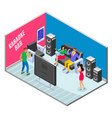 ktv bar isometric composition vector image vector image