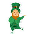 leprechaun patrick icon cartoon style vector image