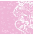 Love And Flowers Background vector image