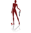 mannequin silhouette vector image vector image