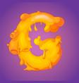melted slicky letter g vector image