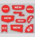 new labels red signs for marking products last vector image vector image