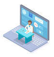 online consultation with doctor therapist or vector image vector image