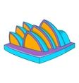 Opera theater icon cartoon style vector image vector image