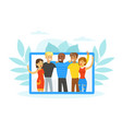 people various nationalities standing together vector image vector image