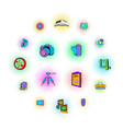 photography set icons pop-art style vector image
