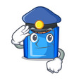 police cartoon fried falafel is ready eat vector image