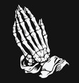 praying skeleton hands vector image vector image