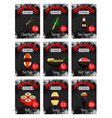 price cards set for japanese food menu vector image vector image