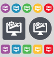 repair computer icon sign A set of 12 colored vector image vector image