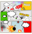 Retro Comic Speech Bubbles vector image vector image