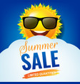 sale poster and sun and clouds vector image vector image