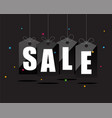 sale sing on black tags with colorful particle vector image vector image