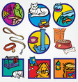 Set Icon for Pets-shop vector image