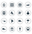 set of simple surrender icons vector image vector image