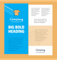 shirt business company poster template with place vector image vector image