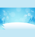 snowdrift with christmas trees background vector image