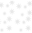 snowflakes pattern christmas background vector image