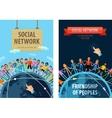 social network logo design template vector image vector image