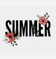 summer holiday slogan with pineapple and tropical vector image