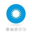 sun icon sunlight summer symbol vector image vector image