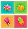 Sweet stickers 2 vector image