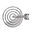 target arrow success isolated icon vector image vector image