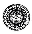 Tattoo styled mask vector image vector image
