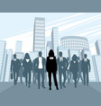 team of business people vector image
