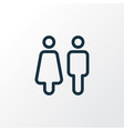 toilet icon line symbol premium quality isolated vector image