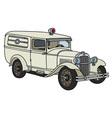 Vintage ambulance vector image vector image