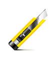 Stationery knife isolated on white vector image