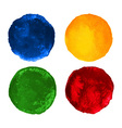Set of Colorful watercolor circular backgrounds vector image