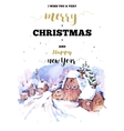 Christmas vertical frame card with winter vector image