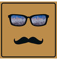 abstract hipster background with mustaches and vector image vector image