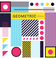 abstract trendy colorful geometric flat pattern vector image