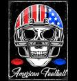 american football skull varsity t shirt graphics vector image vector image