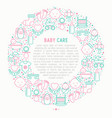 baby care concept in circle vector image vector image