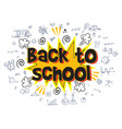 back to school explosion with comic style vector image vector image
