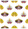bright moth insects seamless pattern vector image vector image