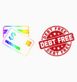 bright pixelated dollar bank cards icon and vector image vector image